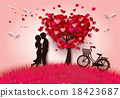 gift, silhouette, couple 18423687