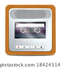 Cassette recorder square icon 18424314