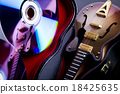 Music on disc and Guitar 18425635