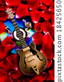 Guitar and CD, bright colorful vivid theme 18425650