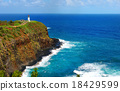 Kilauea lighthouse bay on a sunny day in Kauai 18429599