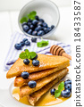 French toast sweet breakfast with blueberries 18433587