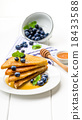 French toast sweet breakfast with blueberries 18433588