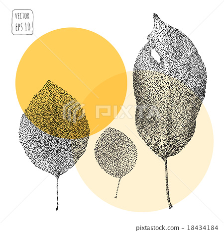 Leaves. Pattern with leaf 18434184