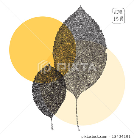Leaves. Pattern with leaf 18434191