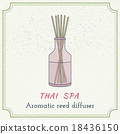 Hand drawn Thai massage and spa design elements. 18436150
