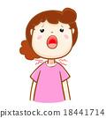 ill woman sore throat cartoon vector 18441714