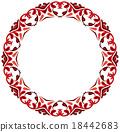 圆 装饰性的 花香 18442683