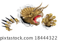 Triceratops Dinosaur Claws Ripping 18444322