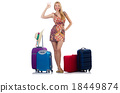 Woman preparing for travel on summer vacation 18449874