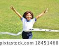 달리는 소녀 (체육복, 골 테이프, 잔디) 18451468