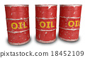 red oil barrels isolated on white 18452109