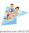 紙飛機和父母和孩子 18452729