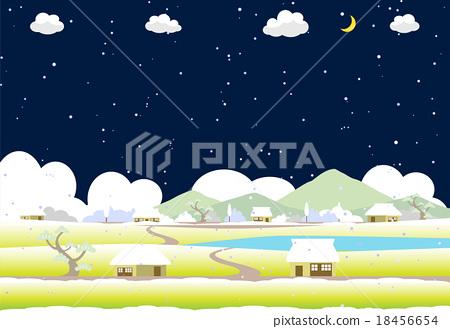 Rural Snowy Night 18456654