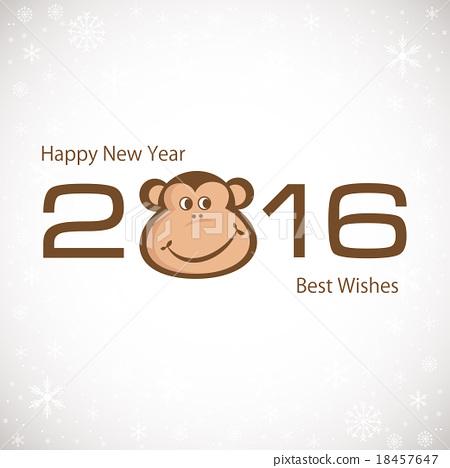 Symbol Of New Year. Monkey. 2016. New year card. 18457647