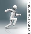 Athletics 3D symbol, Olympic sports 18460251