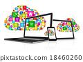 Cloud computing symbol and computer set 18460260