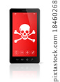 smartphone with a pirate symbol on screen. Hacking 18460268
