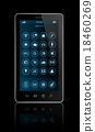 Smartphone with apps icons interface 18460269