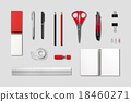 Stationery, office supplies mockup template 18460271