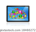 Digital Tablet pc and cloud computing symbol 18460272