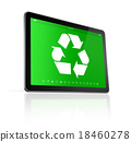 Digital tablet PC with a recycling symbol 18460278