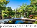 연못, 풍경, 일본 정원 18463134