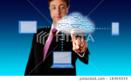 Manager Accessing Email Via A Smart Network 18464034