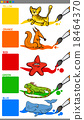 main colors with cartoon animals 18464370