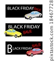 Sports Cars on Three Black Friday Sale Banners 18467728