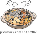 oden, egg, food cooked in a pot 18477987