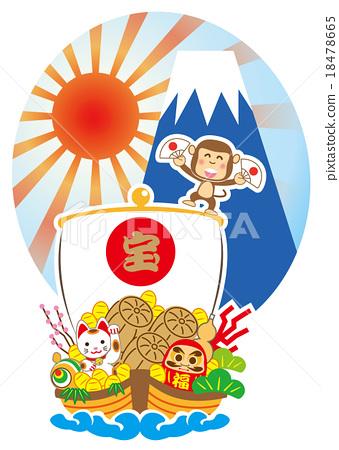 藏寶船 富士山 新春 18478665