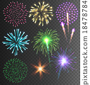 Festive Colorful Firework Salute Burst 18478784