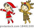 聖誕老公公 聖誕老人 馴鹿 18481300