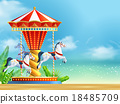 Realistic Carousel Background 18485709