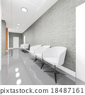 Office Entrance Area interior with armchair 18487161
