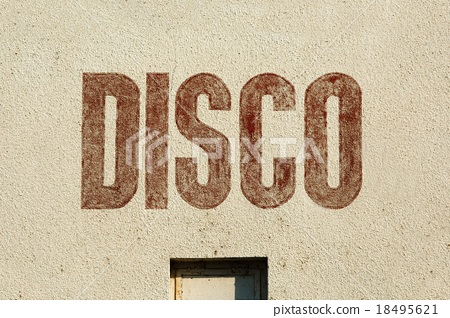 Disco label on wall 18495621
