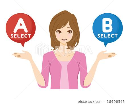 선택 여성 18496545