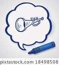 trumpet doodle 18498508