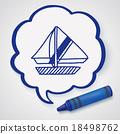 Doodle Sailboat 18498762