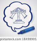 amusement park doodle 18498905