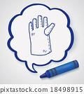 gloves doodle 18498915