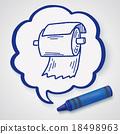 toilet paper doodle 18498963