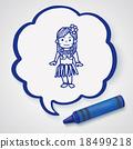 hawaii dancer doodle 18499218