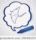 Stingray doodle 18499254