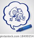 chameleon doodle 18499354