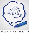 mouse doodle 18499369