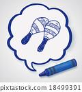 maraca doodle 18499391
