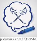 fencing doodle 18499561