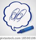 ballet shoes doodle 18500106